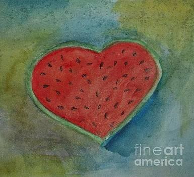 Watermelon Heart by Vesna Antic