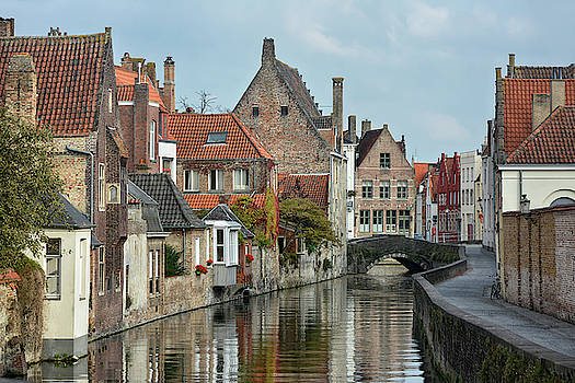 waterway in Bruges by Joachim G Pinkawa
