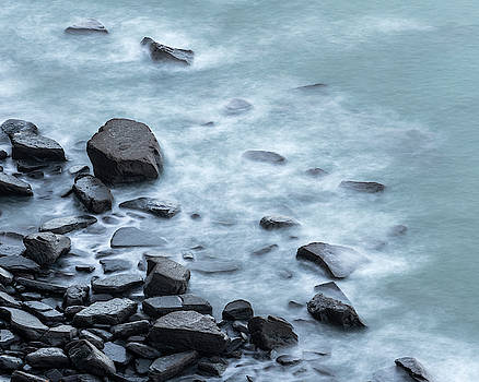Wave-washed rocks by David Taylor