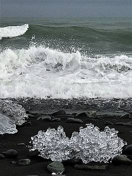 Waves and ice by Norman Burnham