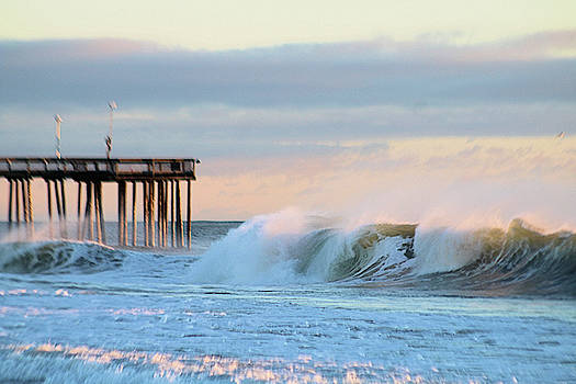 Waves At The Inlet Beach by Robert Banach