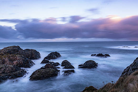 Waves at the shore in Vesteralen recreation area by Kai Mueller