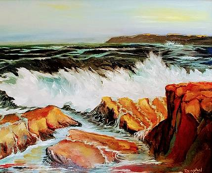 Waves on Rocky Shores by Lilly Ramphal