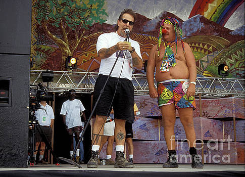 Wavy Gravy on Stage at Woodstock 94 by Concert Photos