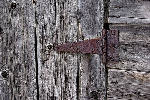 Weathered Barn Hinge Detail by Images Undefined
