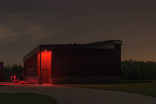 Wedge Building at Night by Diane Schuler