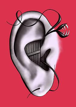 Weird Ear Monster Digital Art by Boriana Giormova