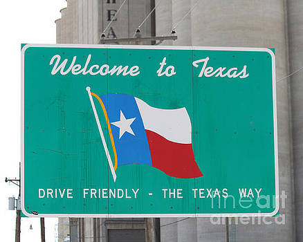 Welcome to Texas Sign by Catherine Sherman