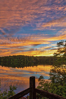 Wellesley College Sunset by Juergen Roth