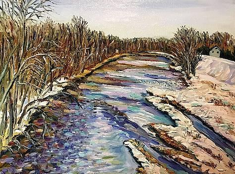 Westfield River-March Winter by Richard Nowak