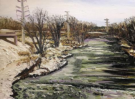 Westfield River-View from Railroad Bridge by Richard Nowak