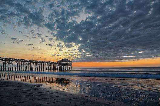 Westgate Cocoa Beach Pier at Sunrise by Jeffrey Klug
