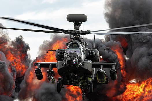 Westland Apache Explosion RAF Cosford Airshow 2019 by Scott Lyons
