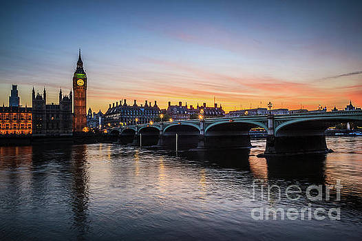 Westminster Sunset by Arnaldo Tarsetti