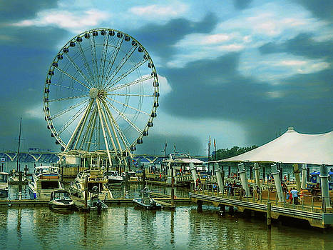 Wheel Over Harbor by Kathy Gail