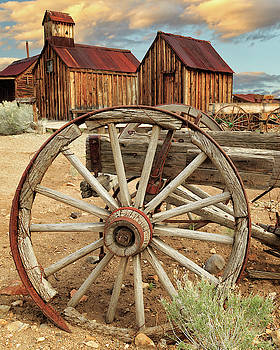 Wheels And Spokes In Color by James Eddy