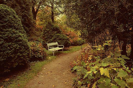 Jenny Rainbow - White Bench in Secret Garden 2