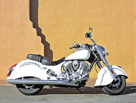 White Indian Motorcycle by Britt Runyon