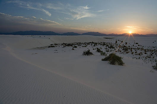White Sands National Monument Sunset by James Petersen