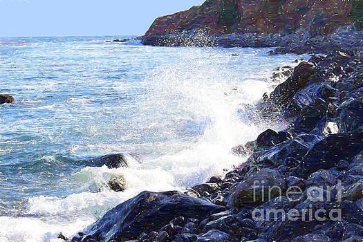 White Spray on Rocks by Katherine Erickson