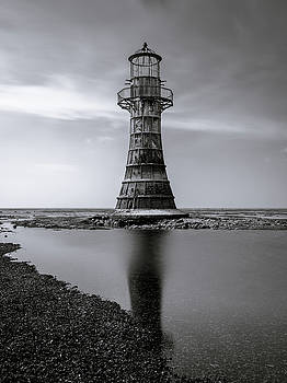 Whiteford Point Lighthouse Reflections by Elliott Coleman