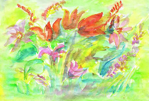 Wild flowers in the sunny meadow by Irina Dobrotsvet