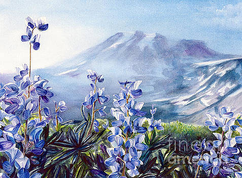 Wild Lupine on Mount Rainier by Jacqueline Tribble