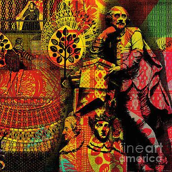 William Shakespeare Pop Art Collage by Jean luc Comperat