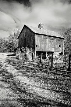 Wilsons Old Rock Barn BW No 1 by Rick Grisolano Photography LLC