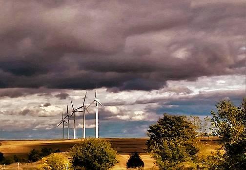 Wind Mills in Des Moines Iowa by Peggy Leyva Conley