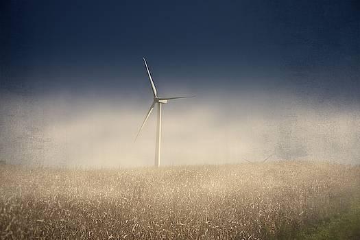 Wind Turbine in Fog by Guy Whiteley