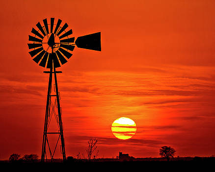 Windmill at Sunset No3-1 by Rick Grisolano Photography LLC