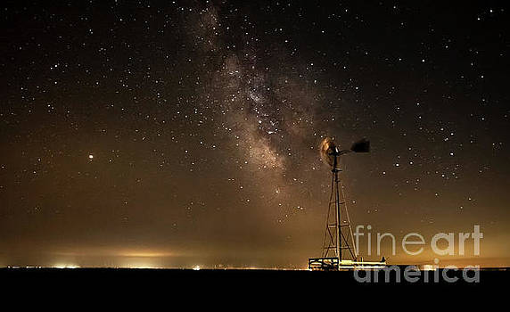 Windmill meets the Milky Way by Steven Reed
