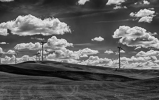 Windmills And Clouds by Diane Hawkins