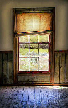 Window with Crooked Shade by Jill Battaglia