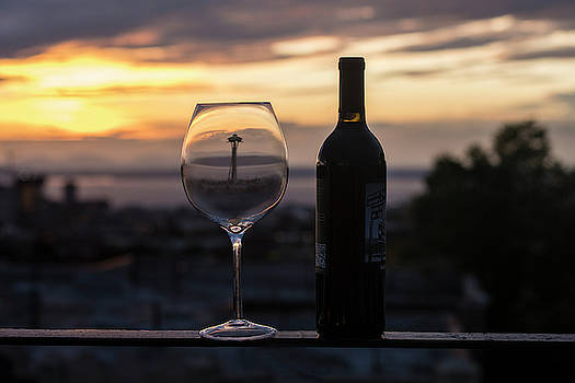 Wine At Sunset In Seattle by Matt McDonald