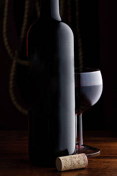 Tom Mc Nemar - Wine Still Life with Cork
