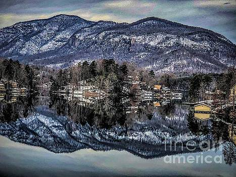 Winter at Lake Lure 1 by Buddy Morrison