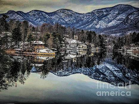 Winter at Lake Lure  by Buddy Morrison