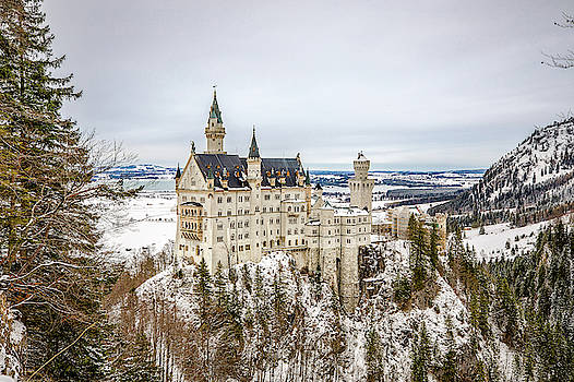 Winter at Neuschwanstein Castle by M C Hood