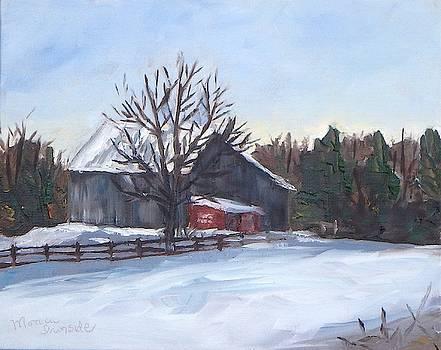 Winter Barn by Monica Ironside