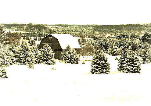 Winter Barn by SimplyCMB