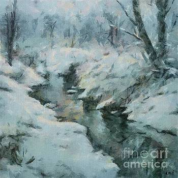 Winter By The Stream by Dragica Micki Fortuna
