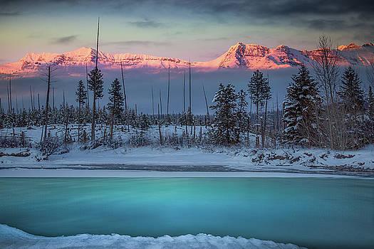 Winter Color Palette / Polebridge, Montana  by Nicholas Parker