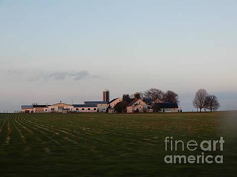 Christine Clark - Winter Evening Amish Homestead Vista