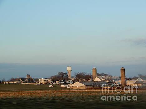 Christine Clark - Winter Evening Homestead Amish Vista