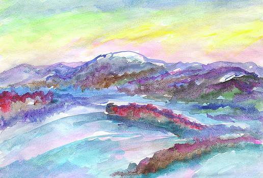 Winter evening in the hills by Irina Dobrotsvet
