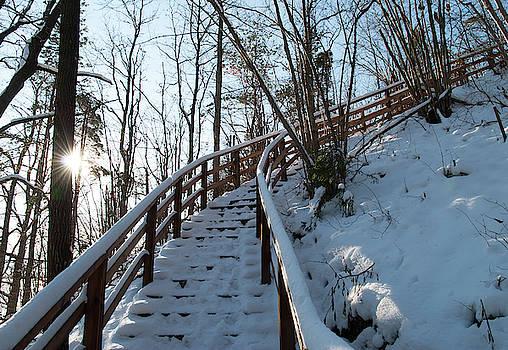 Winter Hiking by Ramunas Bruzas