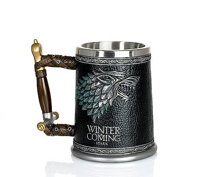 Winter is Coming House Stark tankard from Game of Thron by Steven Heap