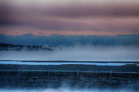 Winter Island Lighthouse above the Fog by Jeff Folger